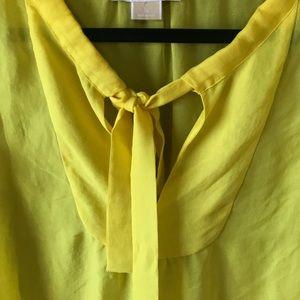 Michael Kors Tops - Michael Kors Yellow Sheer Top with Sailor Tie